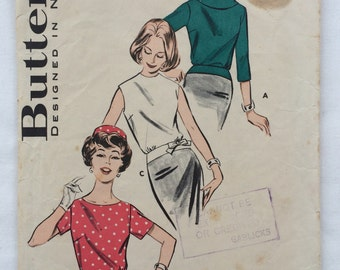 Butterick Vintage Pattern - 9583 Misses' Hip-Banded Blouse