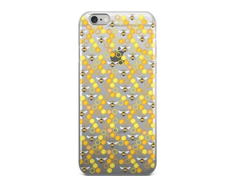 Bees Clear iPhone 7 Case iPhone 6s Case Transparent iPhone 6 Case - iPhone x case - iPhone 8 Case - iPhone 6 Plus Case