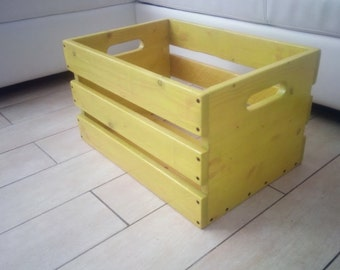 Wooden box-crate wood box-newspaper holder-wooden container