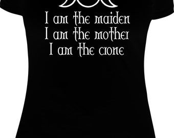 Maiden Mother Crone Tee shirt/ Hoodie Witch Witchcraft Wicca