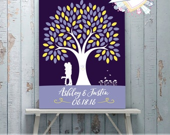 GALLERY WRAPPED CANVAS Personalized Wedding Canvas Guest Book Tree - Wedding Guest Book - Personalized Wedding Decor - Canvas Guest Book