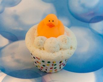 Rubber duck - Rubber ducky – fizzy bath bomb cupcake bubble bar frosting – Solid bubble bath – Bath bomb – Favor – Gift – Bath Fizz – Shower
