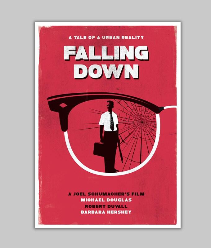 alternative falling down poster michael douglas minimalist. Black Bedroom Furniture Sets. Home Design Ideas