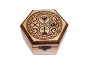 Kingdom Hearts - Wooden box Pyrography - Video Games featured image