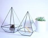 Geometric Terrarium / Pyramid Stained Glass / Glass Terrarium / Decoration / Modern Planter / Airplant Terrarium / Planter / Glass Box