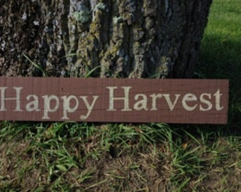 Happy Harvest Repurposed Wood Sign Fall Decor