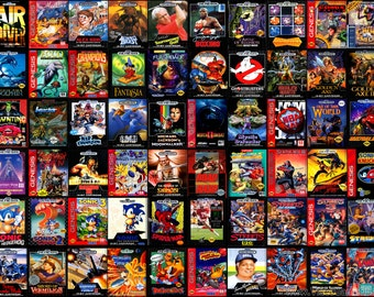 SEGA GENESIS Custom Replacement Game Storage Case, 100's of Game Covers Available!!