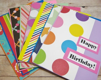 Happy Birthday Card Set-Variety Birthday Card Pack-Greeting Card Pack-Girls and Boys Birthday Card Set-Cards For Everyone-Handmade Card Set