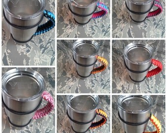 Paracord Yeti Tumbler Handle 20 and 30 oz - Over 30 Colors to Choose From