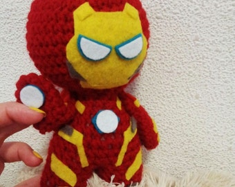 Iron Man,Avengers,Marvel,action figure,Marvel Comics,amigurumi,Handmade, toys,superhero