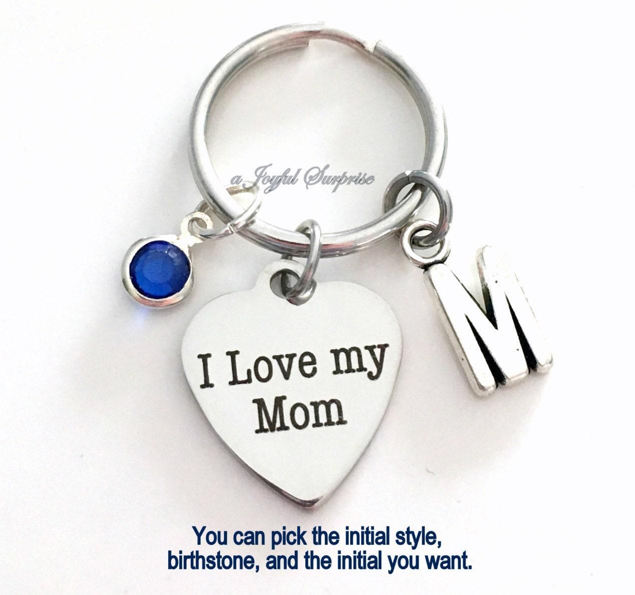 I Love My Mom Keychain Gift For Mom Keyring New Mom Mother Mum Key