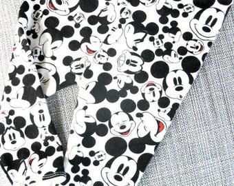 Mickey Mouse Leggings, Soft Stretchy Cotton Knit, Baby leggings, Newborn, Infant, Toddler; Disneyland, Disney, Monochromatic, Boys, Girls