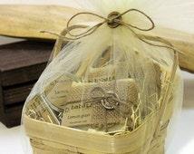 GIFT BASKET - Unique Small Best Handmade Soap Gift Basket