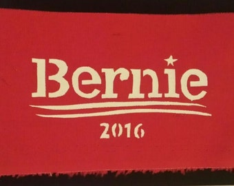 Bernie 2016 campaign fabric patch red president Feel the bern Vermont