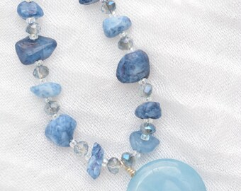 Baby Blue Smile Necklace