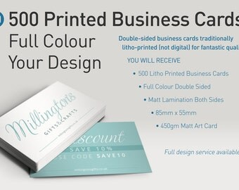 500 Colour Printed Business Cards - Your Existing Design