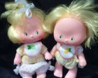 Vintage 1983 Kenner STRAWBERRY Shortcake LEM n ADA Dolls in Original Outfits!
