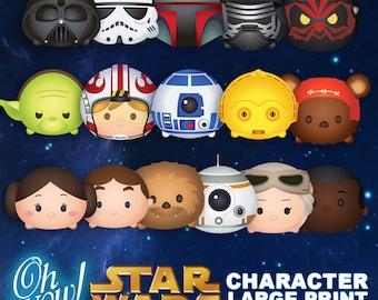 Star Wars Tsum Tsum Character Digital Large Print Files