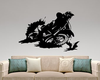 Motocross Wall Decal Extreme Sports Sticker Home Interior Design Boys Room  Decor Bedroom Wall Art Mural Part 79