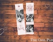 Valentines Bookmark Photoshop Template , Instant Download