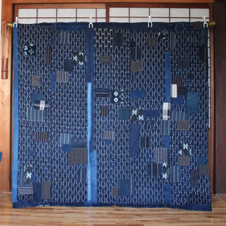 Japanese Boro Patchwork Futon Cover Vintage Japanese Indigo