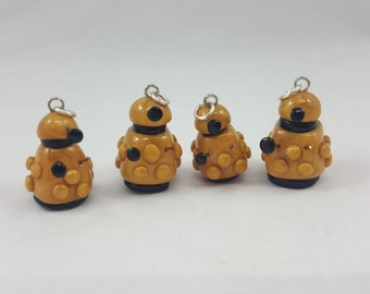 Polymer Clay Doctor Who Dalek Charm
