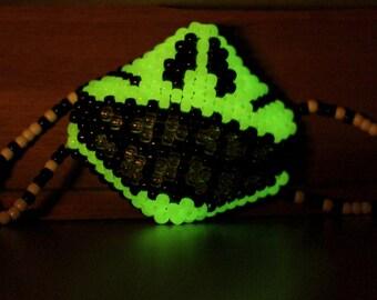 Glow in the Dark Skull LED Kandi Mask