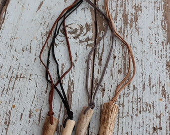 Deer Antler Tip Necklaces