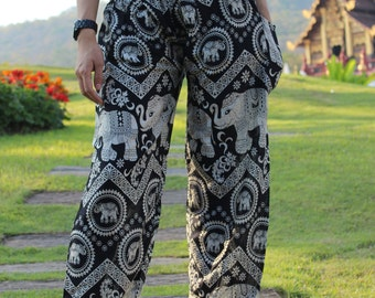 Hippie pants harem pants elephant pants cozy pants boho pants Black