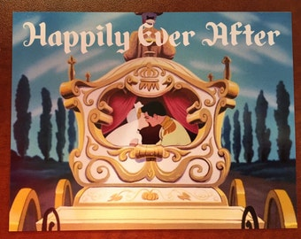 "DCL Door Magnet ""Happily Ever After"" Cinderella"