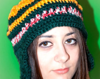 Crochet wool hat