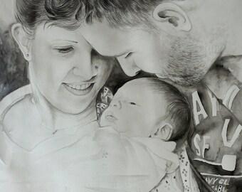 Child Oil Painting. Child Oil Portrait. Kid Oil Painting. Portrait Kids. Newborn Portait. Baby Gift Custom Art. First Birthday Art Gift