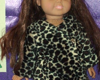 American Girl faux fur coat, fully lined.