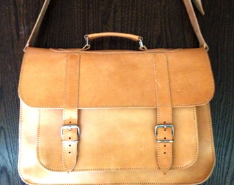 Messenger bag Leather, Handmade Laptop bag 15inch, Leather Briefcase