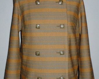 Vintage 1960's Wool Jersey Knit Jacket UK 10 - 12