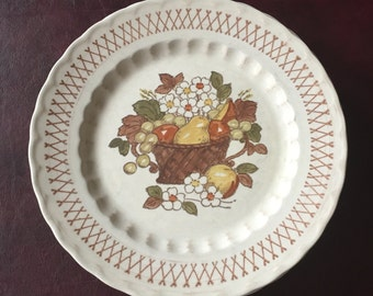 Fruit Basket - Vernon Ware by Metlox - Handpainted Dinner Plates - Set of 5