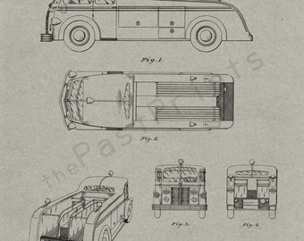 Firefighter Printable | Fireman Art | Firefighter Print | Firefighter Poster | Firefighter Decor | Patent Print | Patent | Firefighter Gift