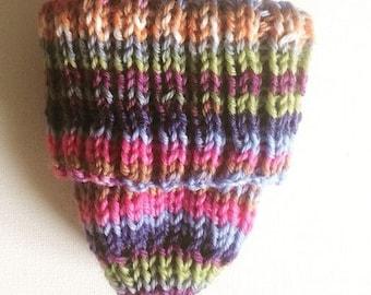 Handmade Knitted Beanie 100% Italian Merino Wool