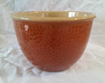 ceramic mixing bowl by kla-ham'rd/brown mixing bowl/ceramic mixing bowl/watts pottery/kal-ham'rd/brown ceramic bowl