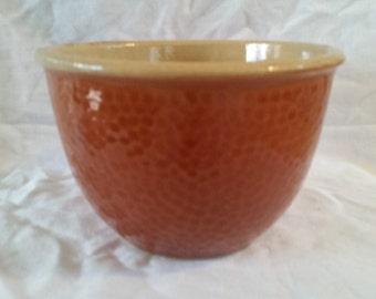 ceramic mixing bowl by kla-ham'rd/brown mixing bowl/ceramic mixing bowl