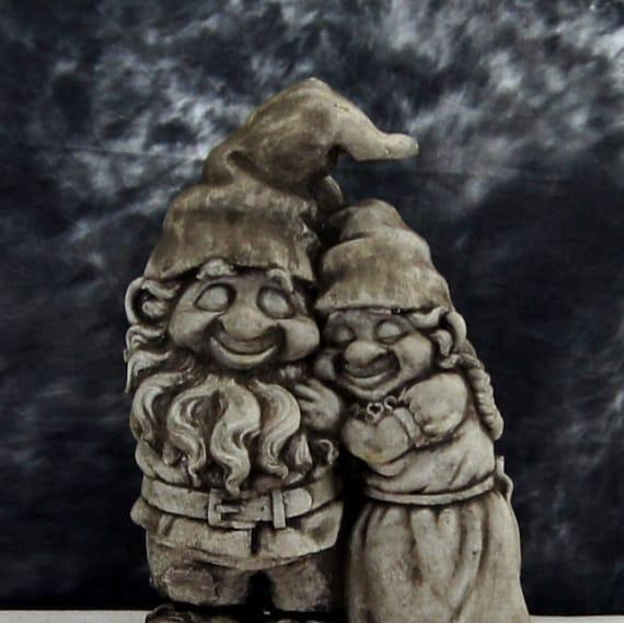 Gnome Garden: Love Gnomes Concrete Garden Gnome Statue Cement Figurine