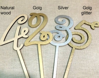 Table numbers Wedding table numbers Gold table numbers Silver table numbers Rustic table numbers For Shabby Chic Wedding Wood table numbers