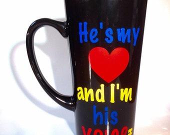 Autism Awareness - Coffee Cup - Ceramic Coffee Mug - Light It Up Blue - Special Education Teacher Gift - Speech Therapist Gift - Autism Mug