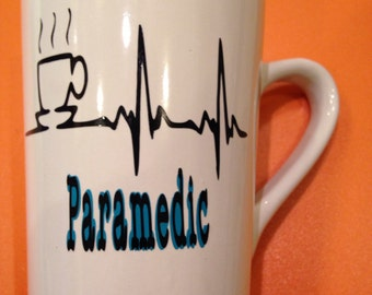 Personalized Paramedic Coffee Mug/ Personalized EMS Mug,  EMT gifts/ Personalized Paramedic gift for men, fathers day gift, color varies