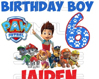 Paw Patrol Birthday Boy Iron On Transfer Digital