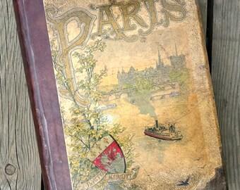 """Book """"Paris"""" Auguste Vitu late 19th century antique"""