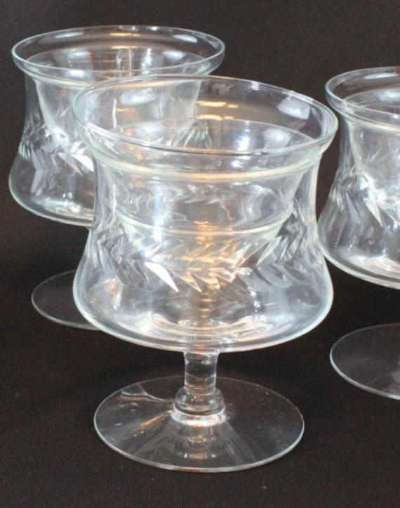 vintage cut glass shrimp cocktail glasses. Black Bedroom Furniture Sets. Home Design Ideas