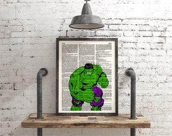 Hulk Poster, Avengers, Marvel, Comic Art, Superhero Art, Geek Poster