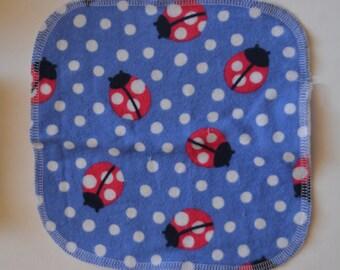 Reusable cloth diaper or bath wipes - set of 10