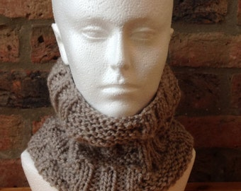 Hand knitted neck warmer/snood
